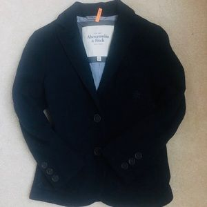 Abercrombie Fitch Wool Suit Jacket Navy Size Small